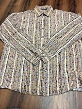 VISCONTI UOMO FLORAL Long Sleeve Button Up Shirt Size Large EUC!!