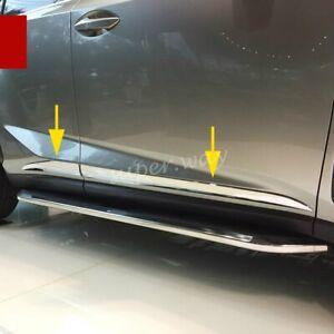 Triple Chrome Door Body Side Molding Trim Cover For 2015-2020 Lexus NX200t/NX300