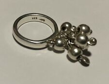 925 Silver Ring Hanging Bead Ball