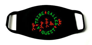 A Tribe Called Quest Hip Hop Printed Re-Usable Cotton Face Mask Black