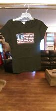 CRAZY SHIRTS Hawaii  Short-Sleeve USA Pride Black Rib Knit T-ShirtT-Shirt L