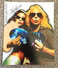 DAVID LEE ROTH (Van Halen) Signed Autograph Promo Photo.