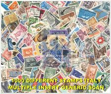 LOT 1000 USED DIFFERENT STAMPS ITALY