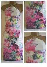 NEW LIPSY at NEXT Floral Print Apron Bandeau Bodycon Wiggle Dress Size 8