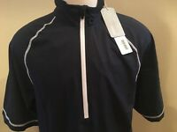NEW Cutter Buck Pullover Medium Golf Blue Zip Wind Water Resistant Activewear