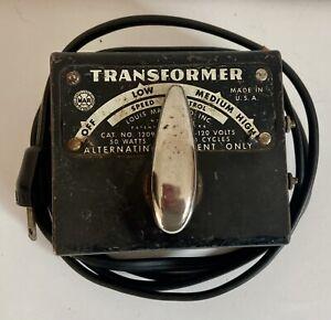 Louis Marx & Co. #1209 Train Transformer 110-120V Tested & works