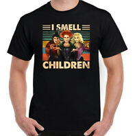 SANDERSON SISTERS T-Shirt, Halloween HOCUS POCUS Mens I Smell Children Tee Top