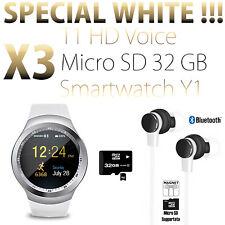 SMARTWATCH OROLOGIO ANDROID IOS BLUETOOTH SIM E SLOT MICRO SD Y1 + T1 HD + 32GB