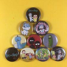 "Rick And Morty 1"" PIN BUTTON cartoon lot  Wubba Lubba Dub Dub"