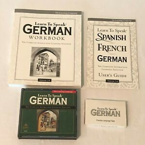 The Learning Company Learn to Speak German 7 3 CDs Set PC Computer Software