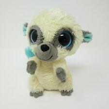 "Ty Beanie Boo Cleo cream turquoise Lemur soft toy plush small 6"" 2010"