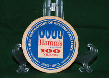 SET OF 6 HAMM'S 100 YEARS/BREWED IN TEXAS COASTERS NOS