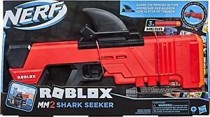 NERF Roblox MM2Shark Seeker Dart BlasterShark-Fin PrimingVirtual Item