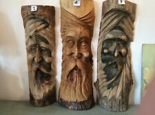Wood Carved Green Man (choice Of Three).