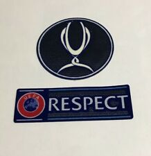 UEFA Super Cup + Respect Sleeve Soccer Patch Badge Liverpool Chelsea Real Madrid