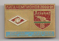 Russian Metal Badge :Spartak Moscow v Arsenal 2000/1 Champions League