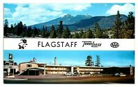 1950s/60s Flagstaff, AZ Travelodge Route 66 Postcard *5N(2)8