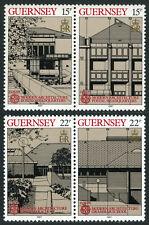 Guernsey 348-351a pairs, MI 389-392, MNH. EUROPA CEPT. Modern Architecture, 1987