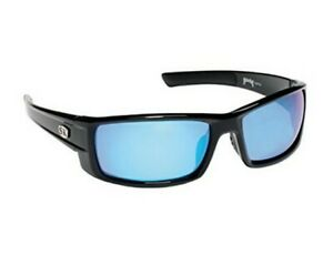 Strike King SG-S11534 Polarized Sunglasses Black & Mirror Blue