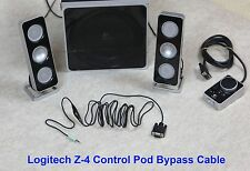 Control Pod Bypass Cable w/ volume control for Logitech Z-4 Computer Speaker z4