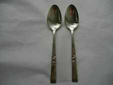 MORNING STAR SILVERPLATE ONEIDA SET OF 2 TEASPOON NO MONOGRAM 6 1/8""