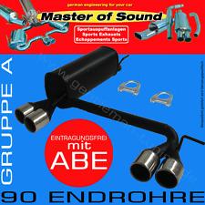 MASTER OF SOUND GR.A AUSPUFF ESD DUPLEX OPEL ASTRA F CC/FLIEßHECK