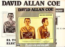 """DAVID ALLAN COE Estas en Mente Spanish 7"""" 45 Spain 1980 Complete PROMO + Poster"""