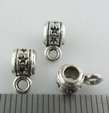 40pcs Tibetan Silver Star Connectors Spacer Bail Beads Charms Pendants 5x5x9mm