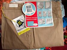 36x34 Nwt True Vtg 50s Blue Bell Army Twill Sanforized Khaki Chinos Work Pants