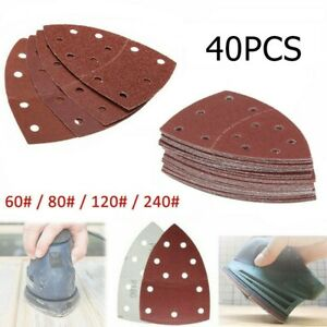 Mixed Grit  Hook And Loop Triangle Mouse Sander Discs 40pcs Sanding-Sheets