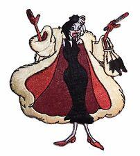 """Disney's 101 Dalmations Movie Cruella De Vil 3 3/4"""" Tall Embroidered Patch"""