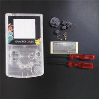 GBC Nintendo Game Boy Color Replacement Housing Shell Screen Clear Pikachu USA!