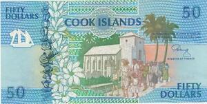 A SAISIR      BILLET 50  DOLLARS   ILES   COOK     1992      NEUF    !!!!   UNC.