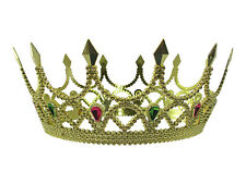 Royal Medieval Celtic Gold Queen Princess Crown With Gems Renaissance Costume