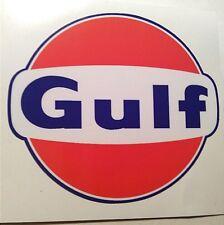 Gulf round sticker decal hot rod rat rod vintage look car truck dragrace  kustom