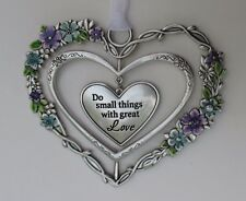 jjd Do small things with great love BLOOMING LOVELY 3d Heart Ornament ganz