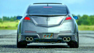STAINLESS STEEL DUAL EXHAUST TIPS 4.0 2.5 FOR ACURA 04-08 TLS 09-11 TL 12-14 TL