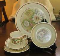 VTG Lenox Magic Garden 5 Pcs Place Setting / Dinner Cereal Cup Saucer Bread