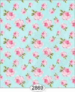Dollhouse Quarterscale Wallpaper - Tea For Two Teacup - Floral Toss Blue