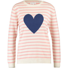 BNWT Breton Chinti & Parker Striped Heart Jumper Cashmere & Wool Large RRP £325