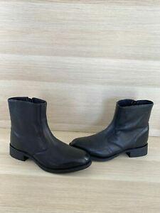 Laredo HOXIE Black Leather Side Zip Western Boots Men's Size 8.5 EW