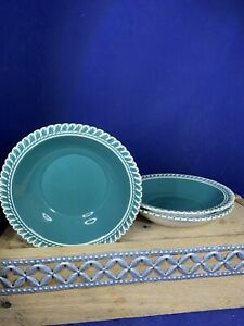"Harkerware Harker Pottery CORINTHIAN Dark Teal Berry Bowls 5.5"" USA"