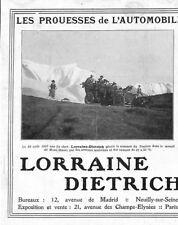 "LUNEVILLE (54) "" AUTOMOBILES LORRAINE-DIETRICH "" PUBLICITE 1908"