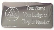 Personalised Masonic Royal Arch Triple Tau Regalia Case Silver Case Plate (T115)