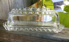 Vintage Clear Glass Covered Butter Dish Imperial Candlewick Very Nice Condition!