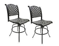 Patio Bar Stools Armless Set of 2 Outdoor Furniture Aluminum Nassau Sunbrella