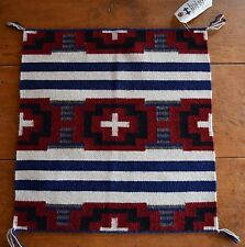 Vintage small Navajo rug, blanket Native American textile, weaving Doreen Bennie