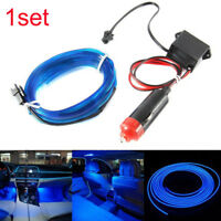 2M Car Interior LED Decorative Wire Strip Atmosphere Ice Blue Light Universal YX