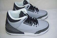 New Boy's Nike Air Jordan Retro 3 Athletic Shoe 398614-004 Size 4Y Gray 39C
