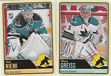 2012 2013 OPC 12/13 O PEE CHEE....TEAM SET...SAN JOSE SHARKS...17 CARDS
